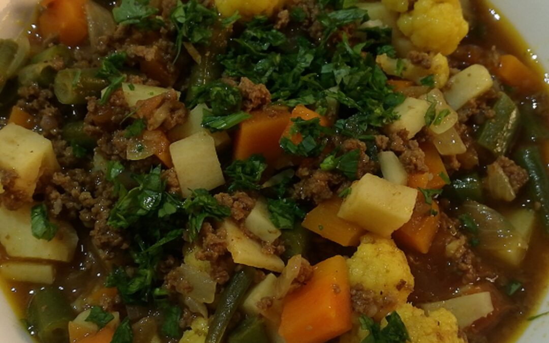 Arabian ground beef with veggies