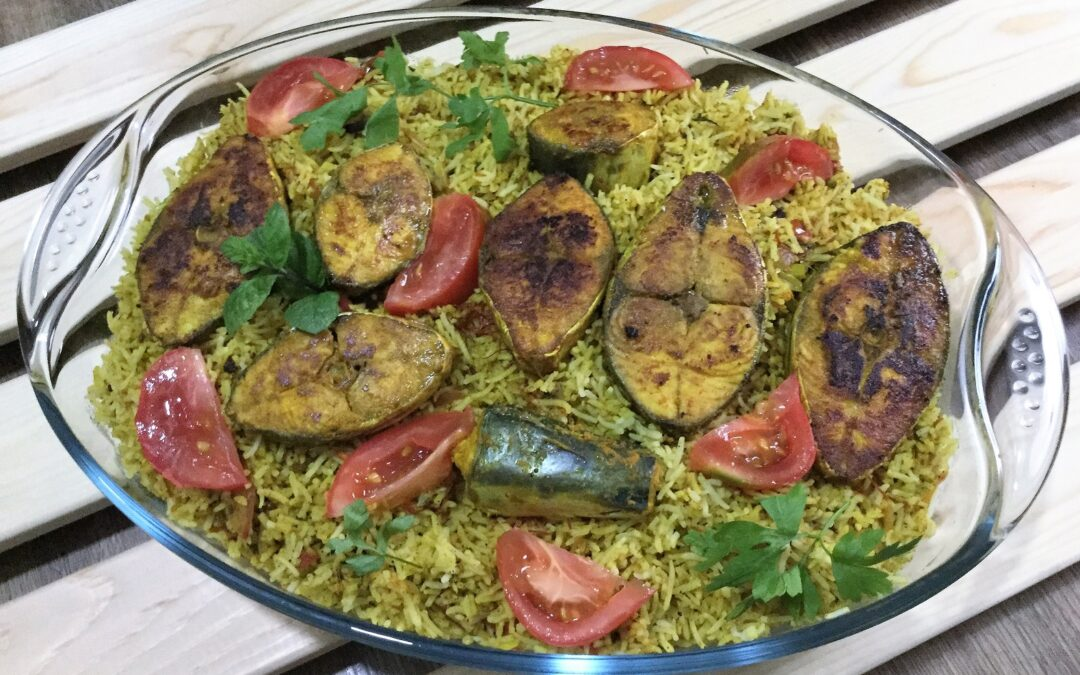 Fish biryani from mymotherskitchens