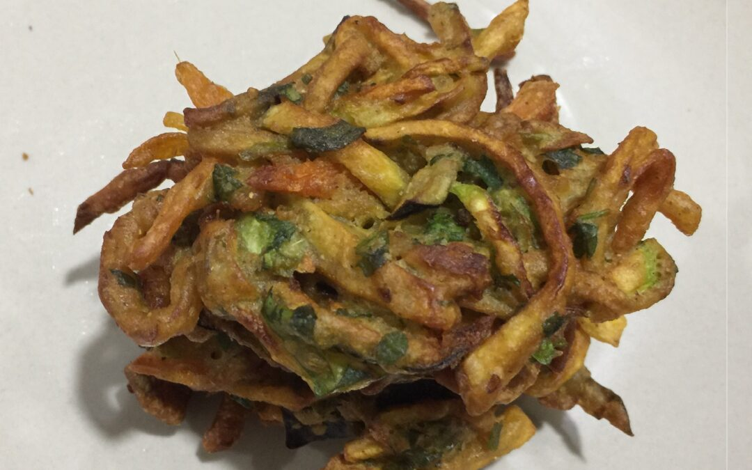 Pakora - spiced, breade and fried vegetables