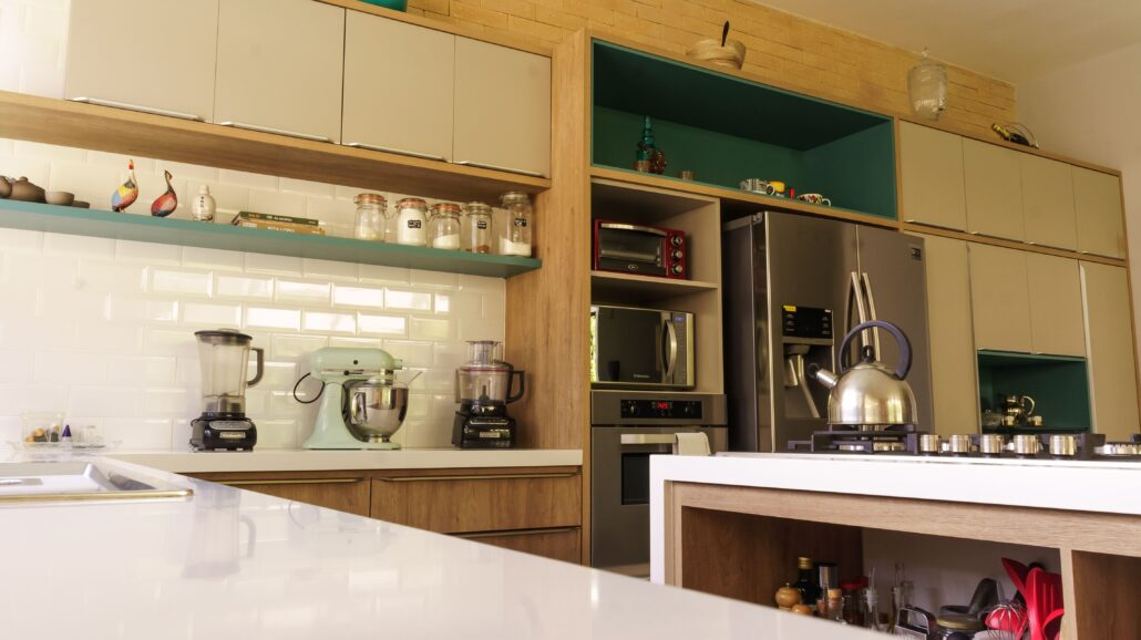 kitchen cabinets and shelves
